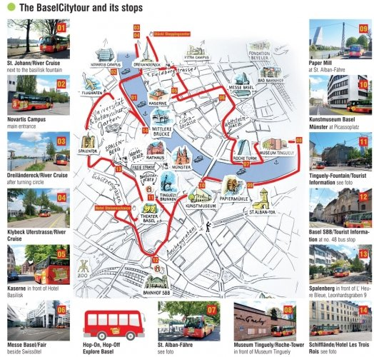 Timetable Basel City Tour
